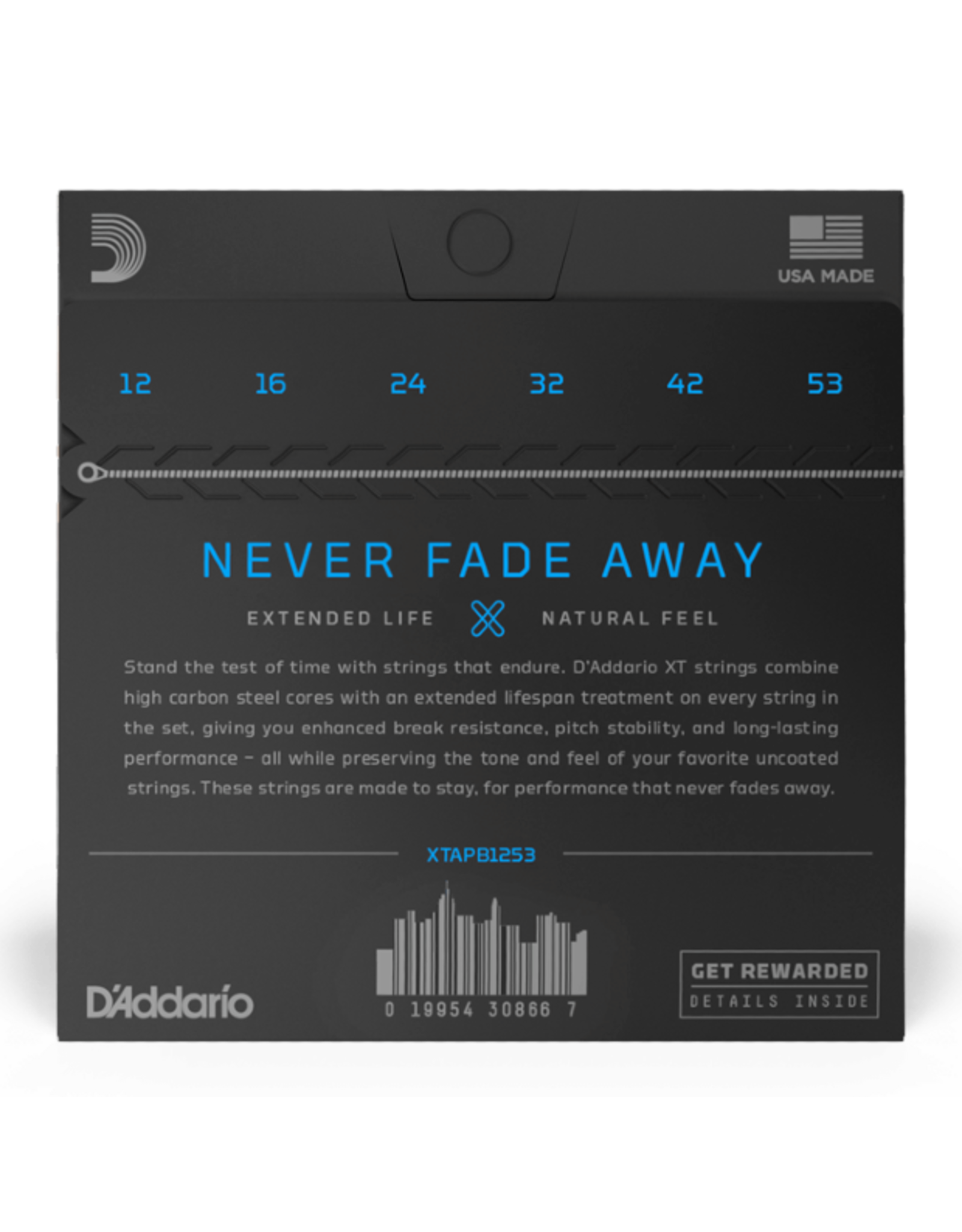 D'Addario D'Addario XT Phosphor Bronze Light Acoustic - 12-53