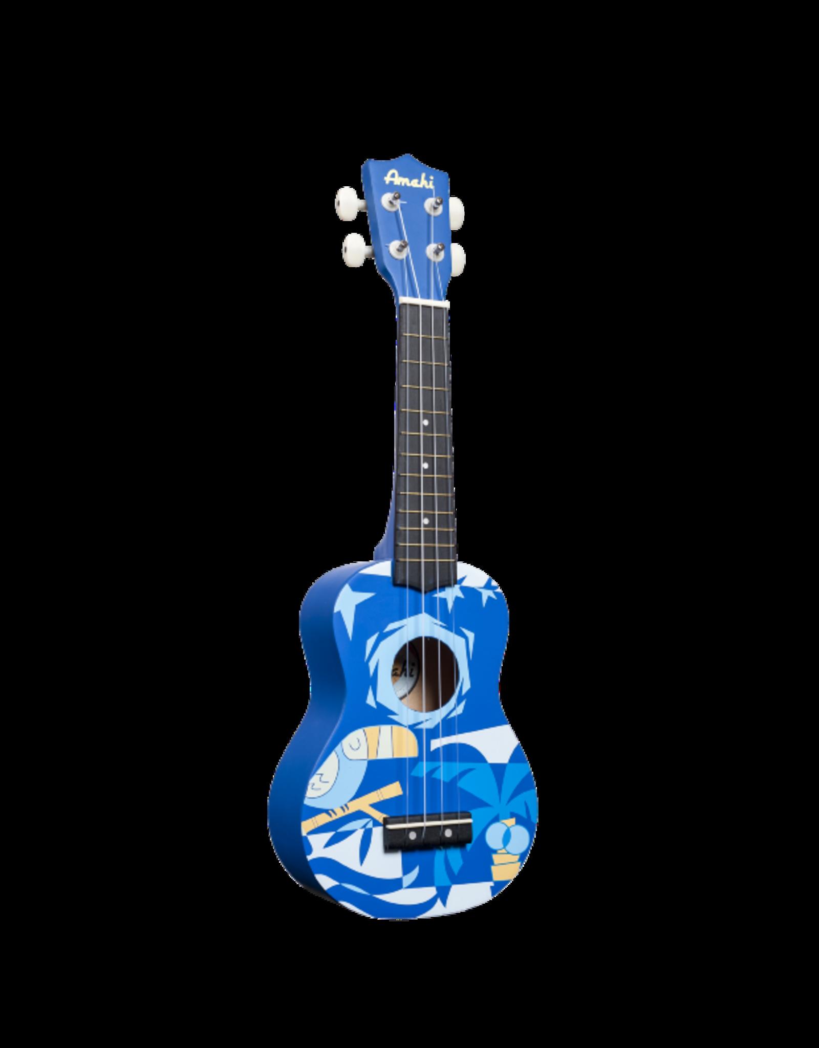Amahi Amahi Blue Bird Soprano Ukulele