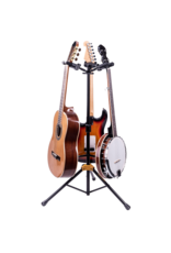 Hercules Hercules Auto Grip System (AGS) Triple Guitar Stand, Foldable Backrest