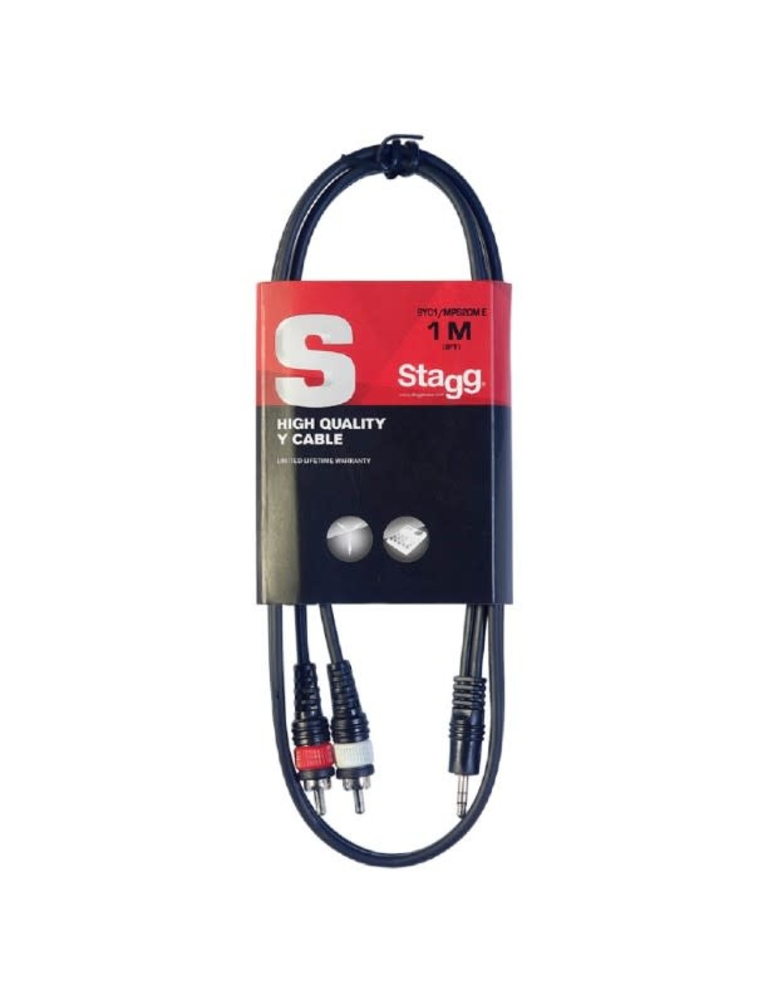 Stagg Stagg Y Cable, Mini jack/RCA (m/m), 1 m (3')
