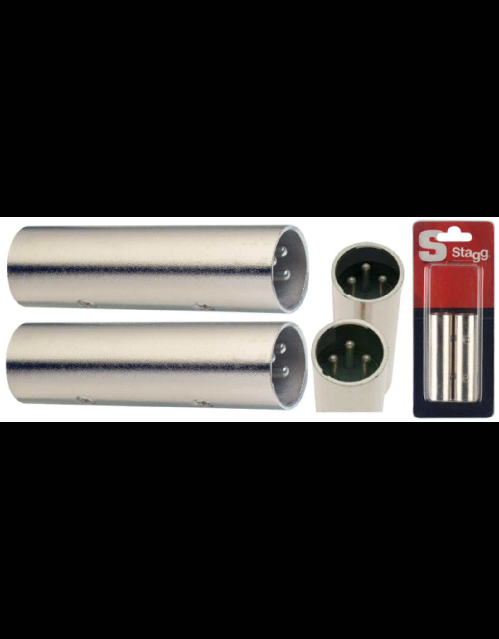 Stagg Stagg Symetrical Male XLR/Symetrical Male XLR Adaptor 2 Pack