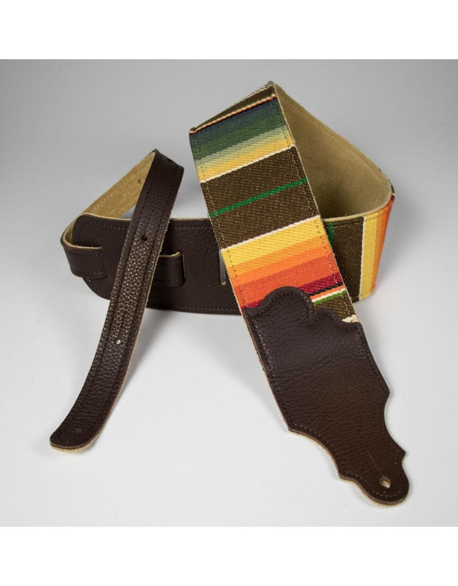 Franklin Franklin 3″ Saddle Blanket Guitar Strap CHOCOLATE