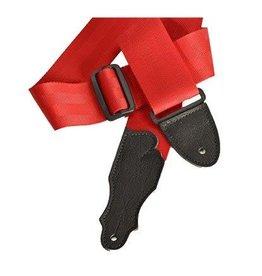 """Franklin Franklin 2"""" Aviator Seat Belt Guitar Strap Red"""