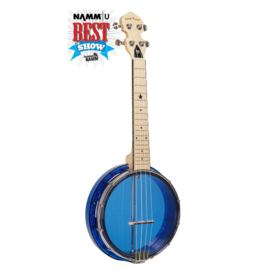 Gold Tone Little Gem Sapphire (Blue) See-Through Banjo Ukulele