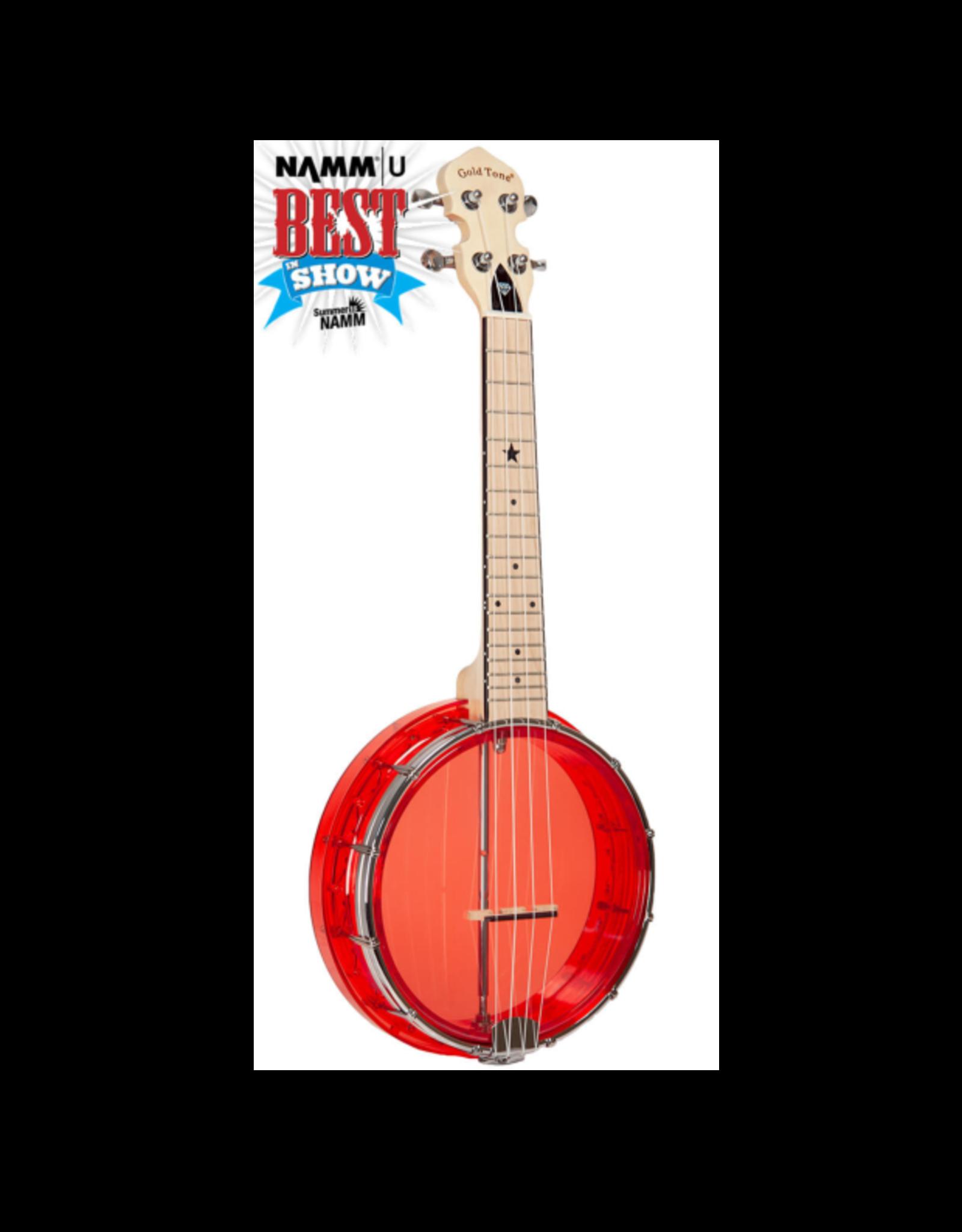Gold Tone Little Gem Ruby (Red) See-Through Banjo Ukulele