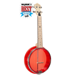 Gold Tone Little Gem Ruby (Red) See-Through Banjo Ukulele