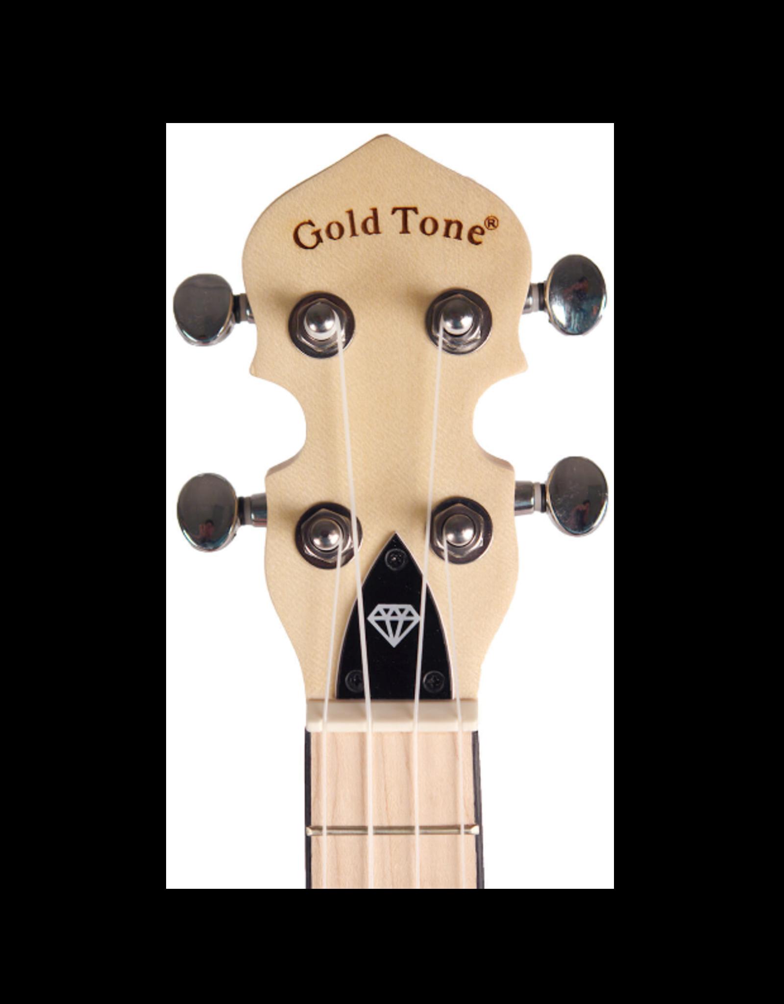 Gold Tone Little Gem Diamond (Clear) See-Through Banjo Ukulele