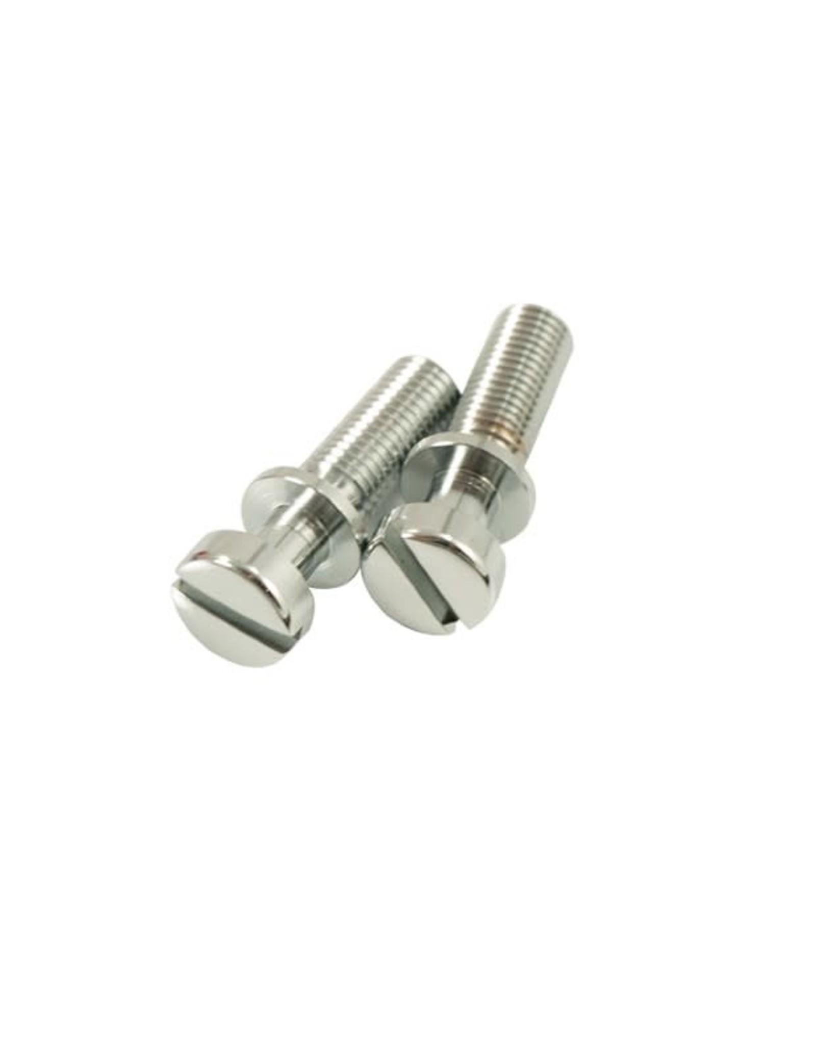 Kluson Kluson USA Steel Stop Tailpiece Stud Set USA Thread Chrome