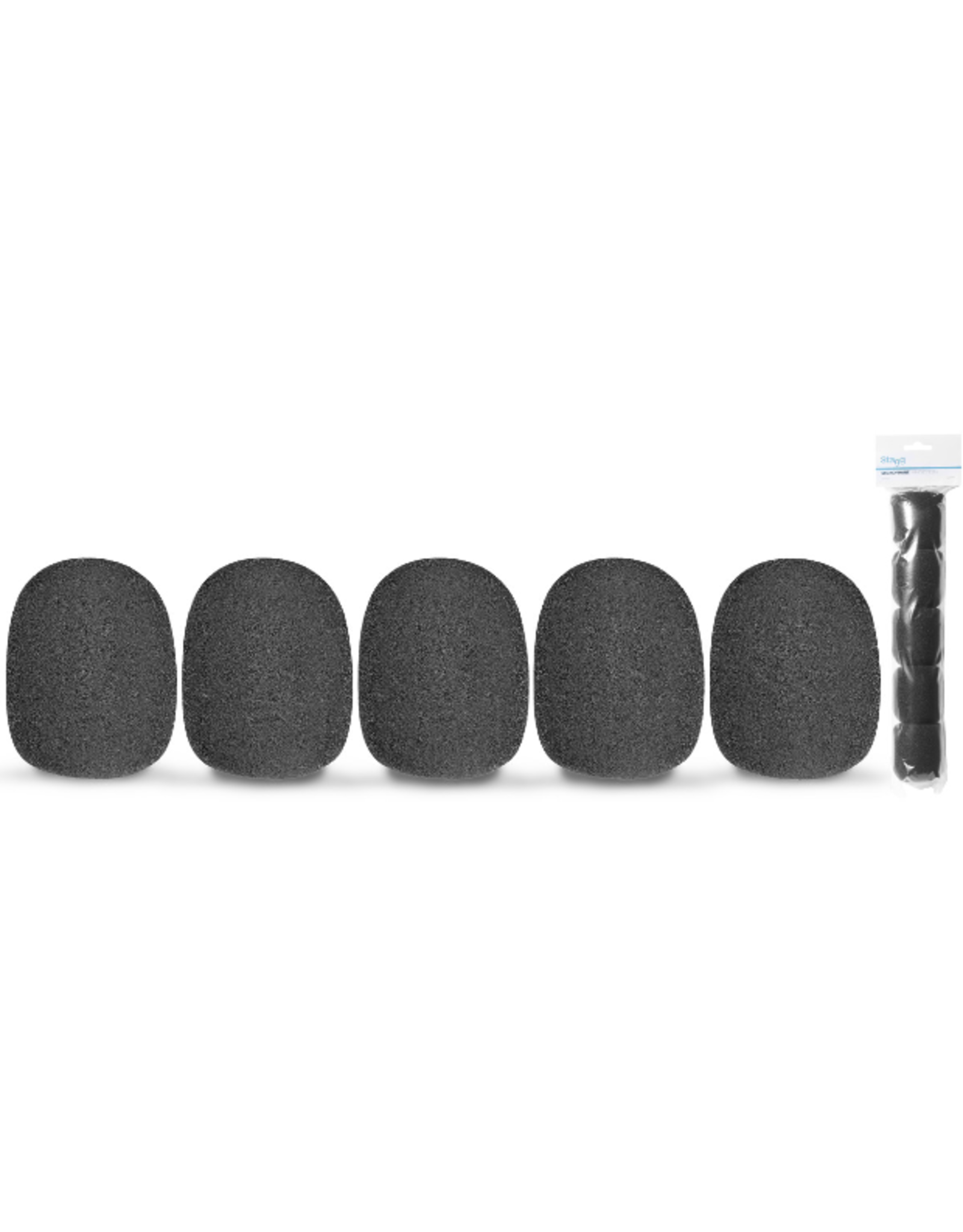 Stagg Stagg Microphone Windscreen (SM58 Type) 5 Pack Black