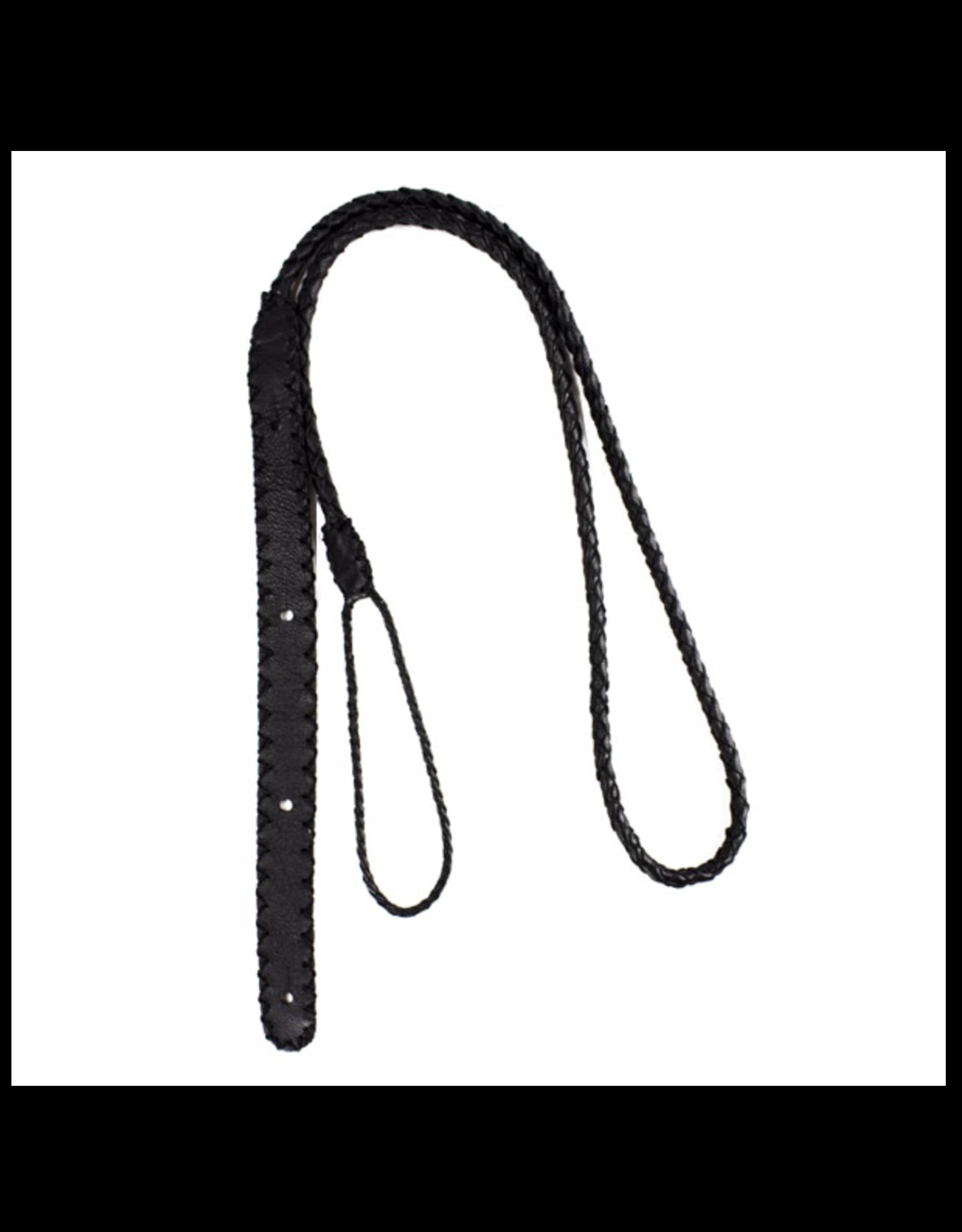 Henry Heller Henry Heller Braided Leather Ukulele Strap Black