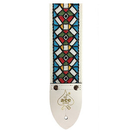 D'Andrea Ace Vintage Reissue Guitar Strap - Stained Glass
