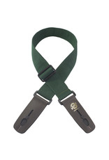 "Lock-It Lock-It 2"" Poly Pro Series Guitar Strap - Dark Green"
