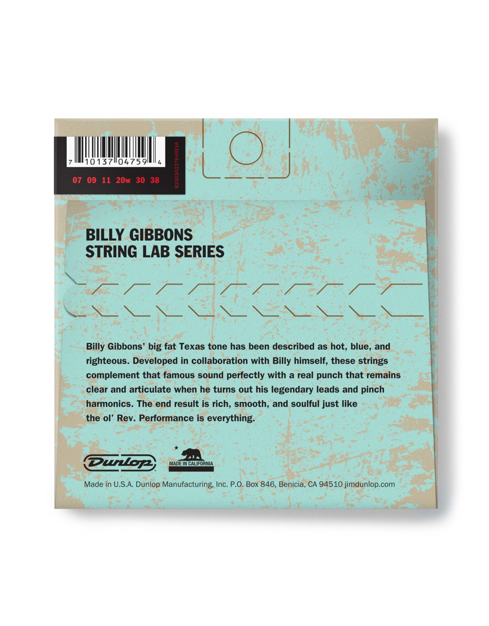 Dunlop Dunlop Billy Gibbons String Lab Series 07/38