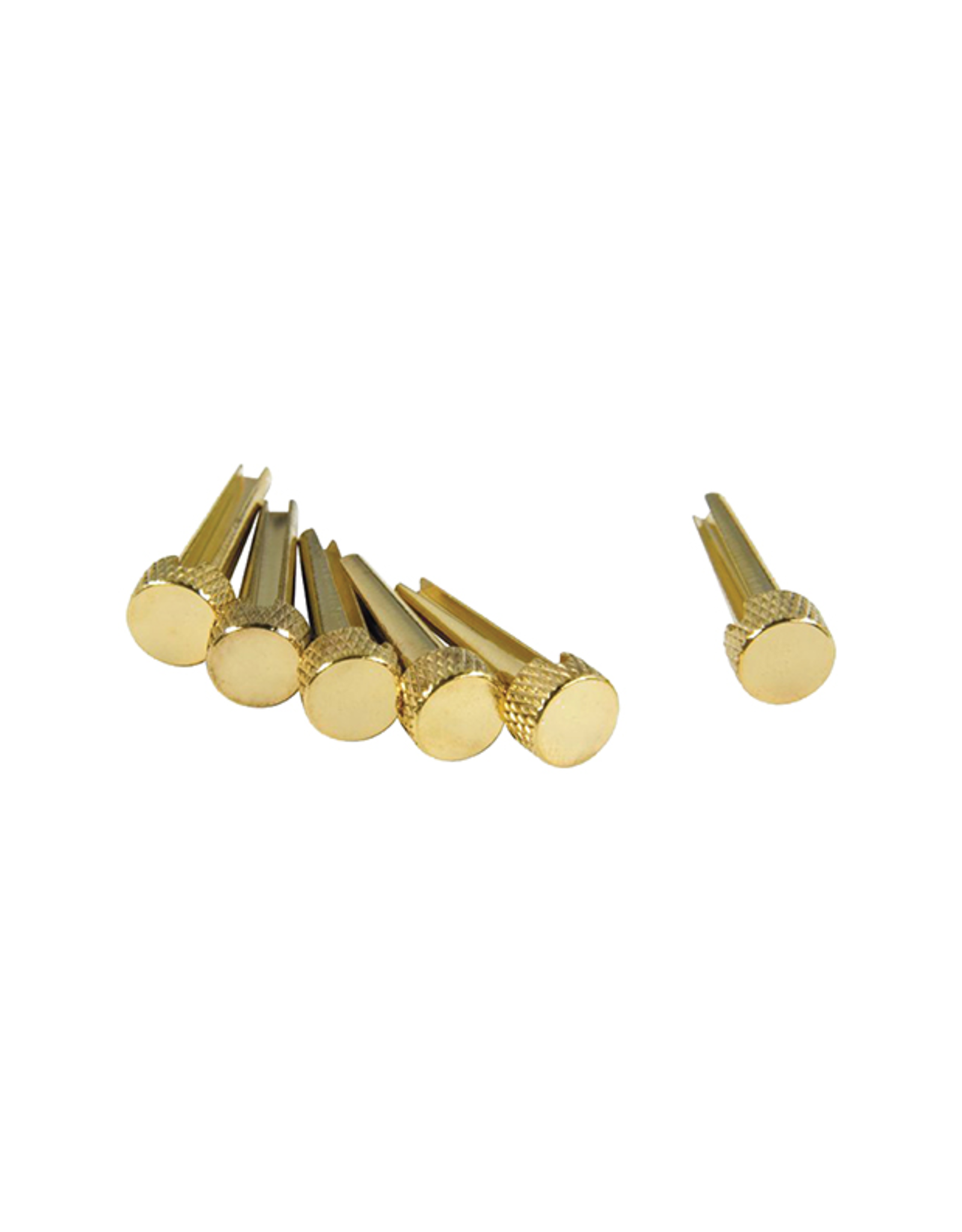 D'Andrea Tone Pins Solid Brass Bridge Pins 6 Pack