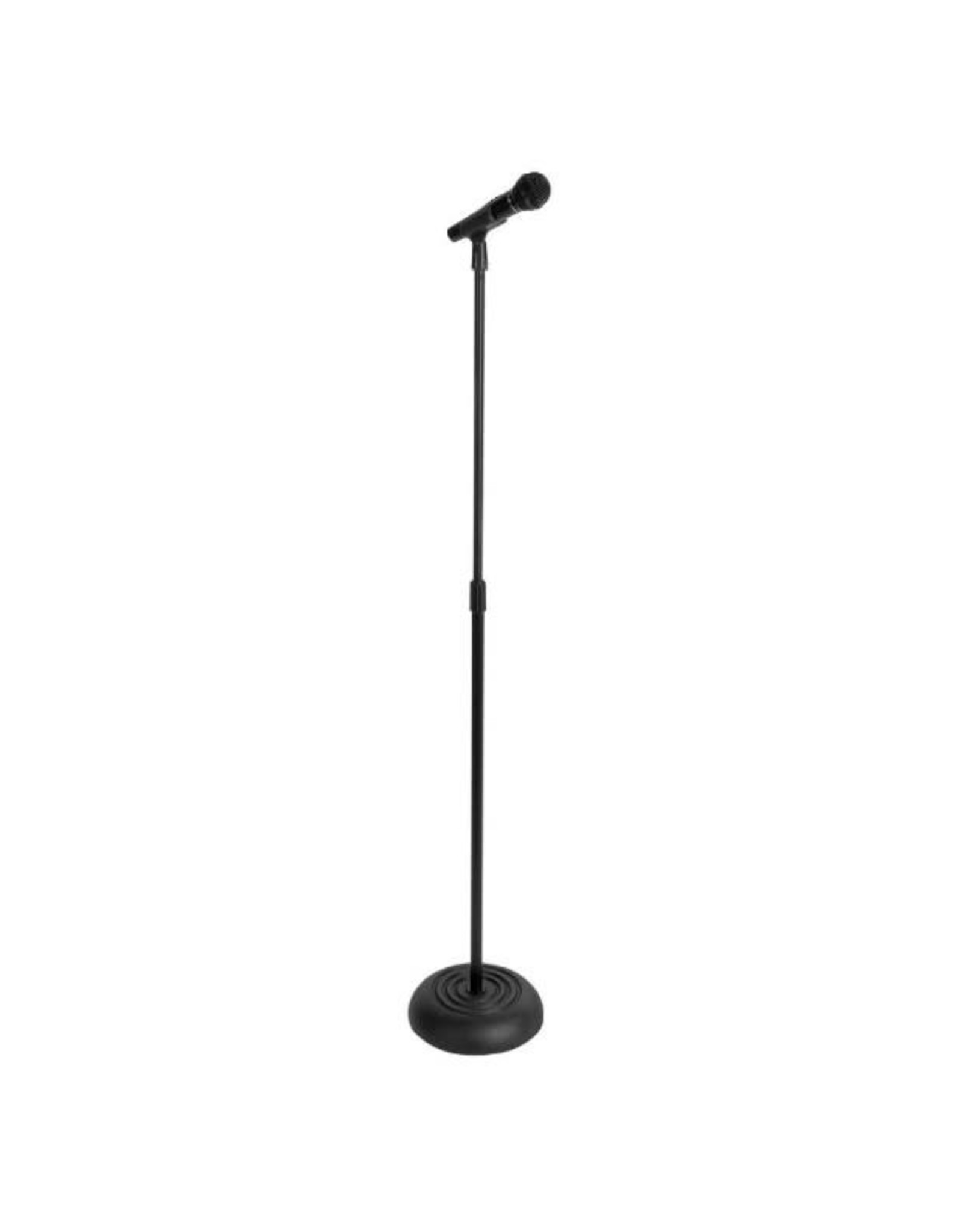 On-Stage Stands On-Stage Round Base Mic Stand -Black