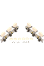 Metallor Metallor Plank Classical Guitar Tuning Pegs Chrome Plated Single Hole 3L 3R