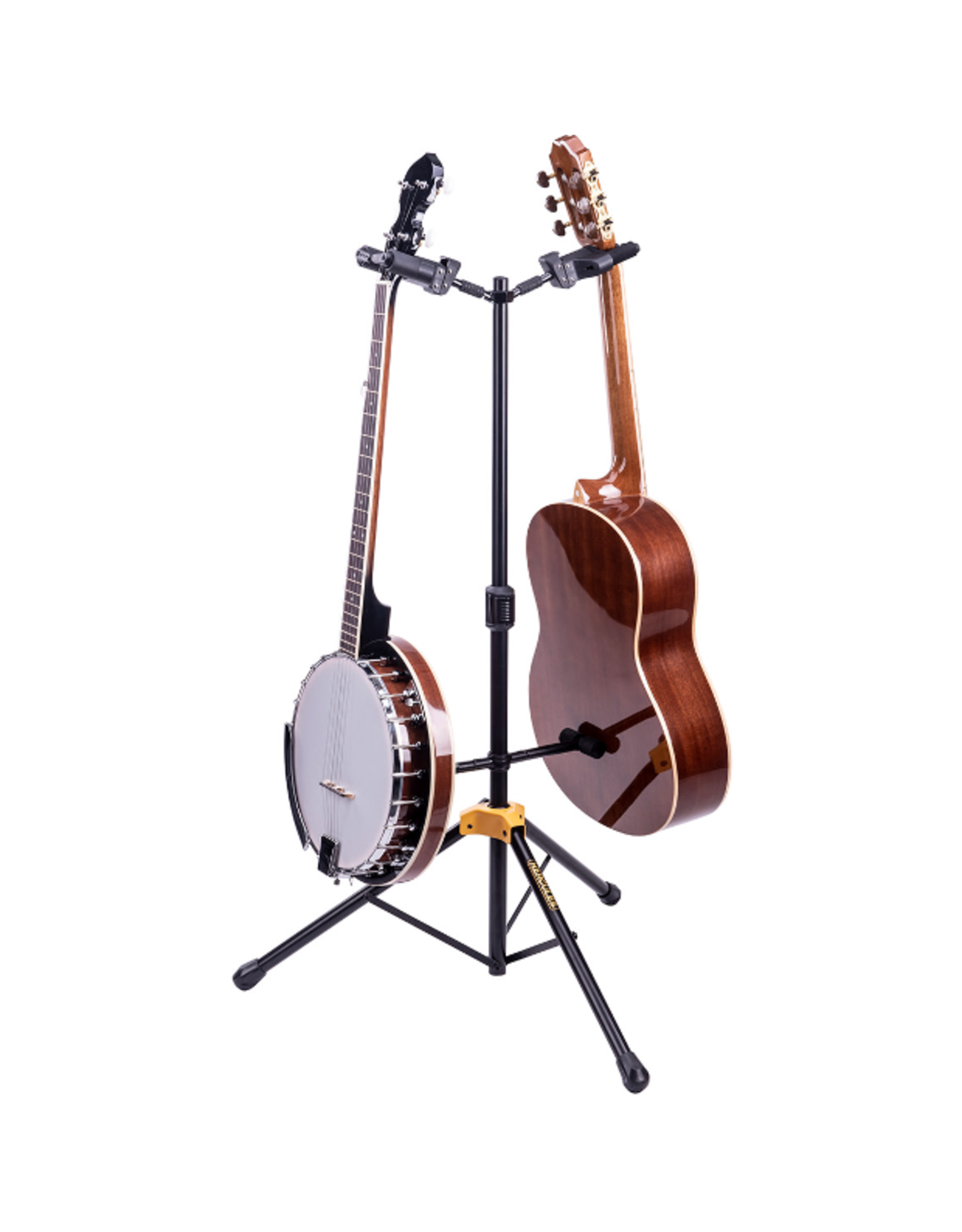 Hercules Hercules Auto Grip System (AGS) Double Guitar Stand, Foldable Backrest