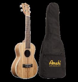 Amahi Amahi Classic Zebrawood Concert Ukulele