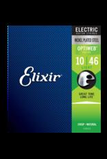 Elixir Elixir 19052 Nickel Plated Steel Electric Guitar Strings with Optiweb Light 10-46
