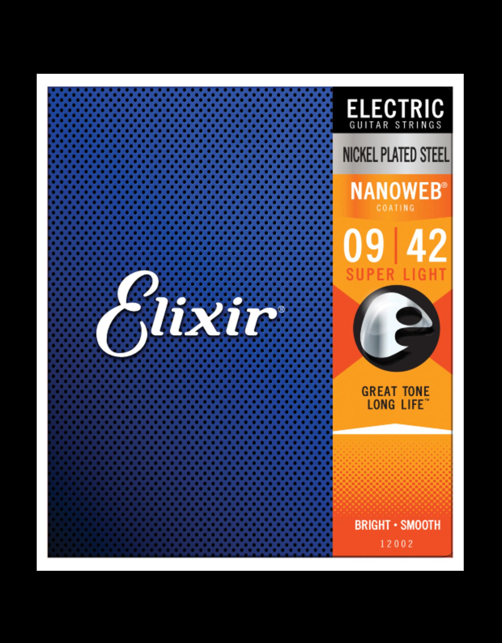 Elixir Elixir 12002 Nickel Plated Steel Electric Guitar Strings with NANOWEB Medium 11-49