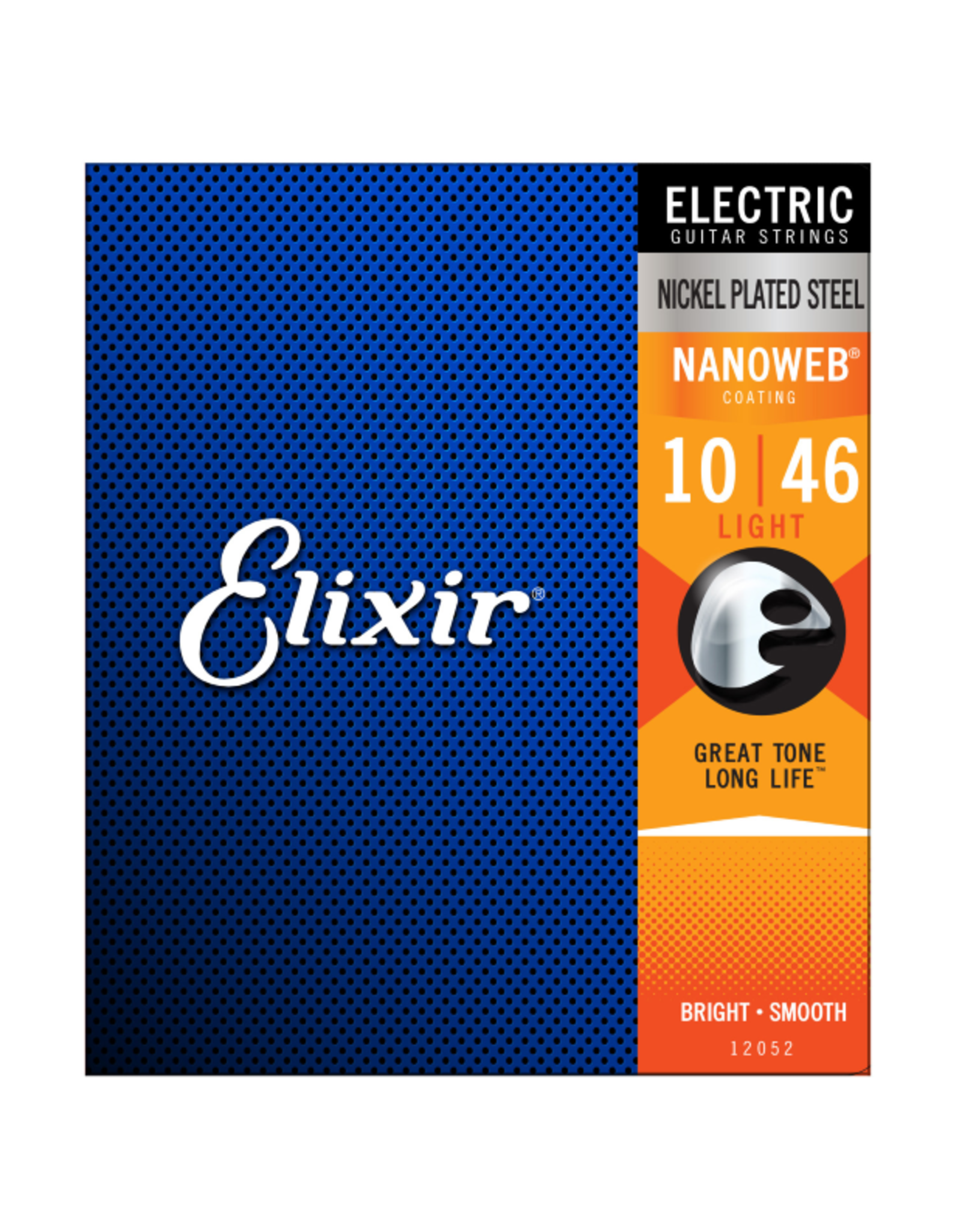 Elixir Elixir 12052 Nickel Plated Steel Electric Guitar Strings with NANOWEB Light 10-46