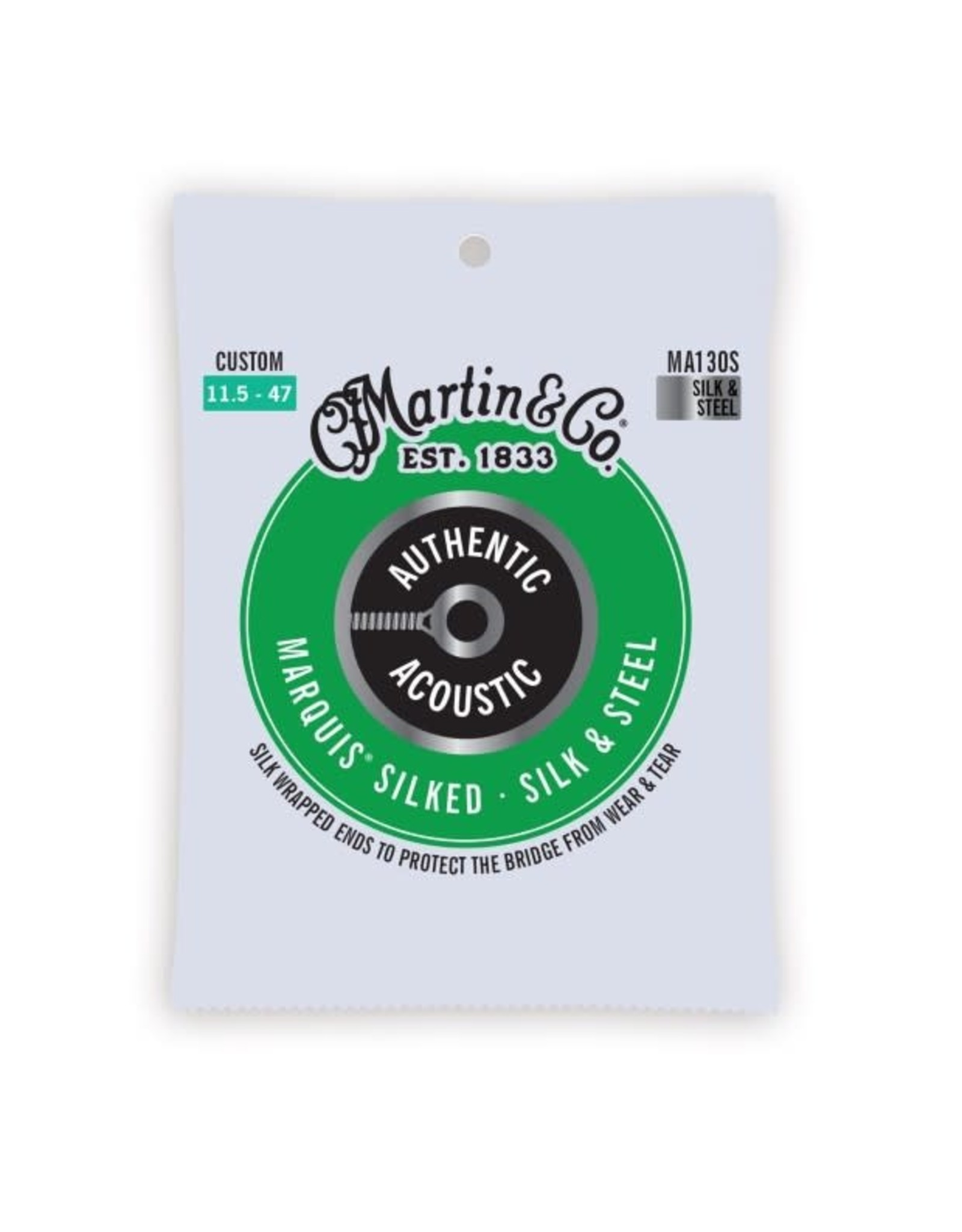 Martin & Co Martin MA130S Authentic Acoustic Marquis Silk and Steel Custom Acoustic -11.5-47