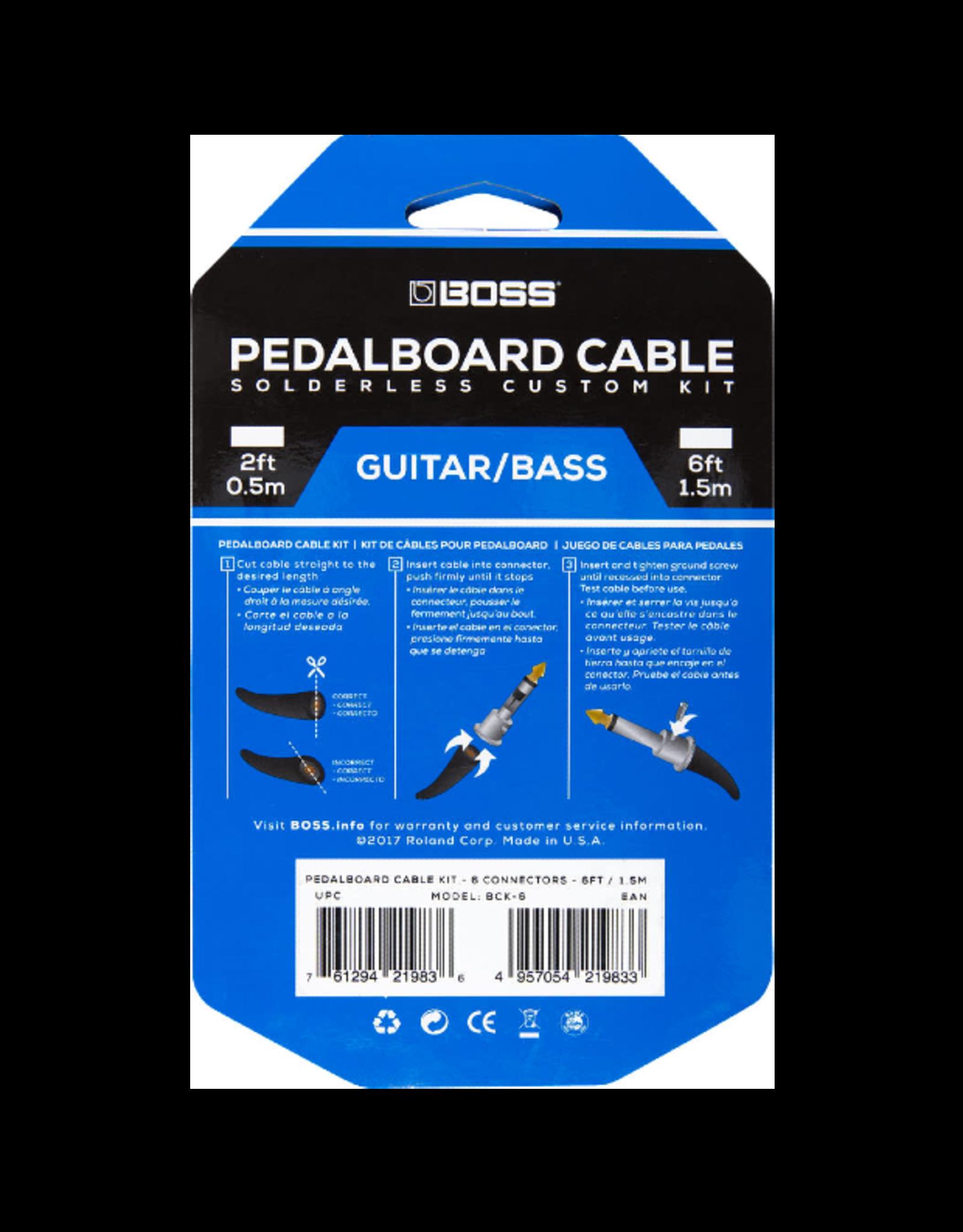Boss Boss Solderless Pedalboard Cable Kit 6 ft.