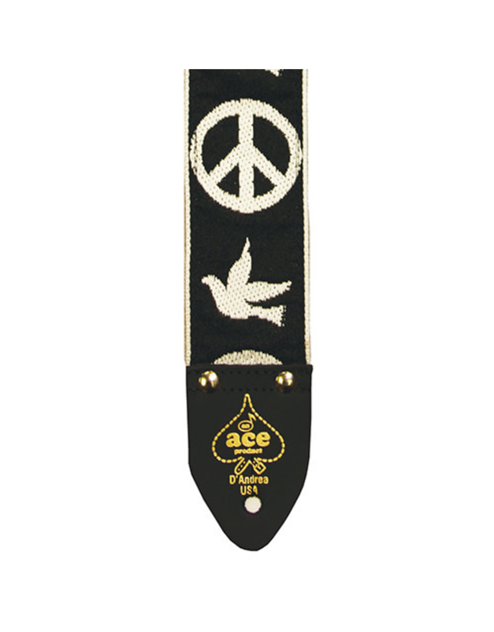 Ace Ace Vintage Reissue Guitar Strap – Peace & Dove