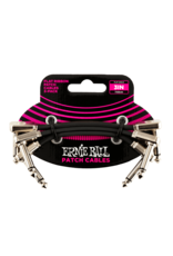 "Ernie Ball Ernie Ball 3"" Flat Ribbon Patch Cable 3-Pack"
