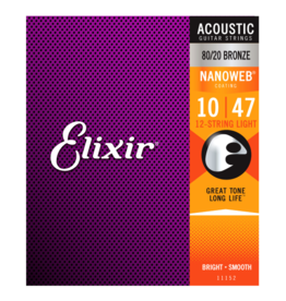 Elixir Elixir 11152 80/20 Bronze (12 String) NANOWEB. Light