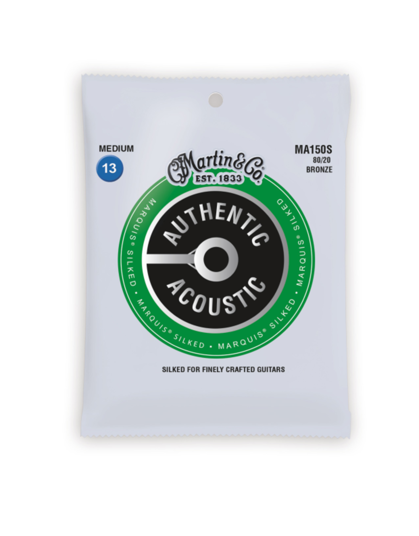 Martin & Co Martin MA150S Authentic Acoustic Marquis Silked 80/20 Bronze Medium Guitar Strings. 13-56