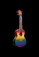Amahi Penguin Rainbow Flamed Maple Concert Ukulele