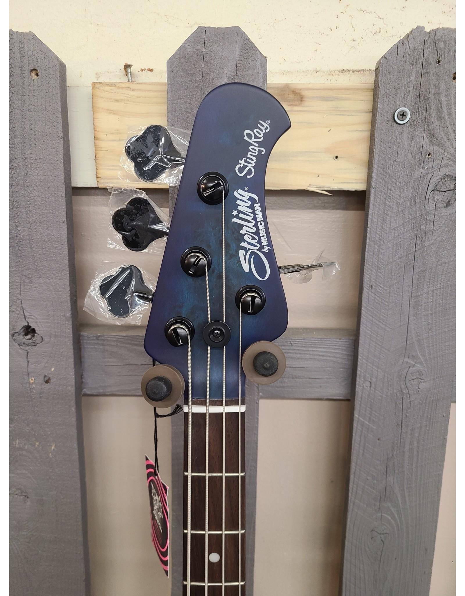 Sterling by Musicman Sterling STINGRAY RAY34PB Neptune Blue Satin B-Stock
