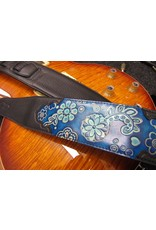 Stagg Stagg Black Padded Leatherette Guitar Strap Blue