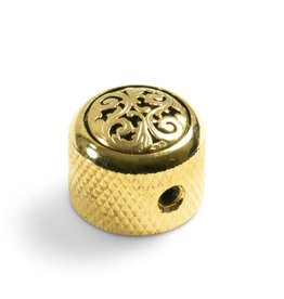Q-Parts Q-Parts Knob With Vine Inlay Gold