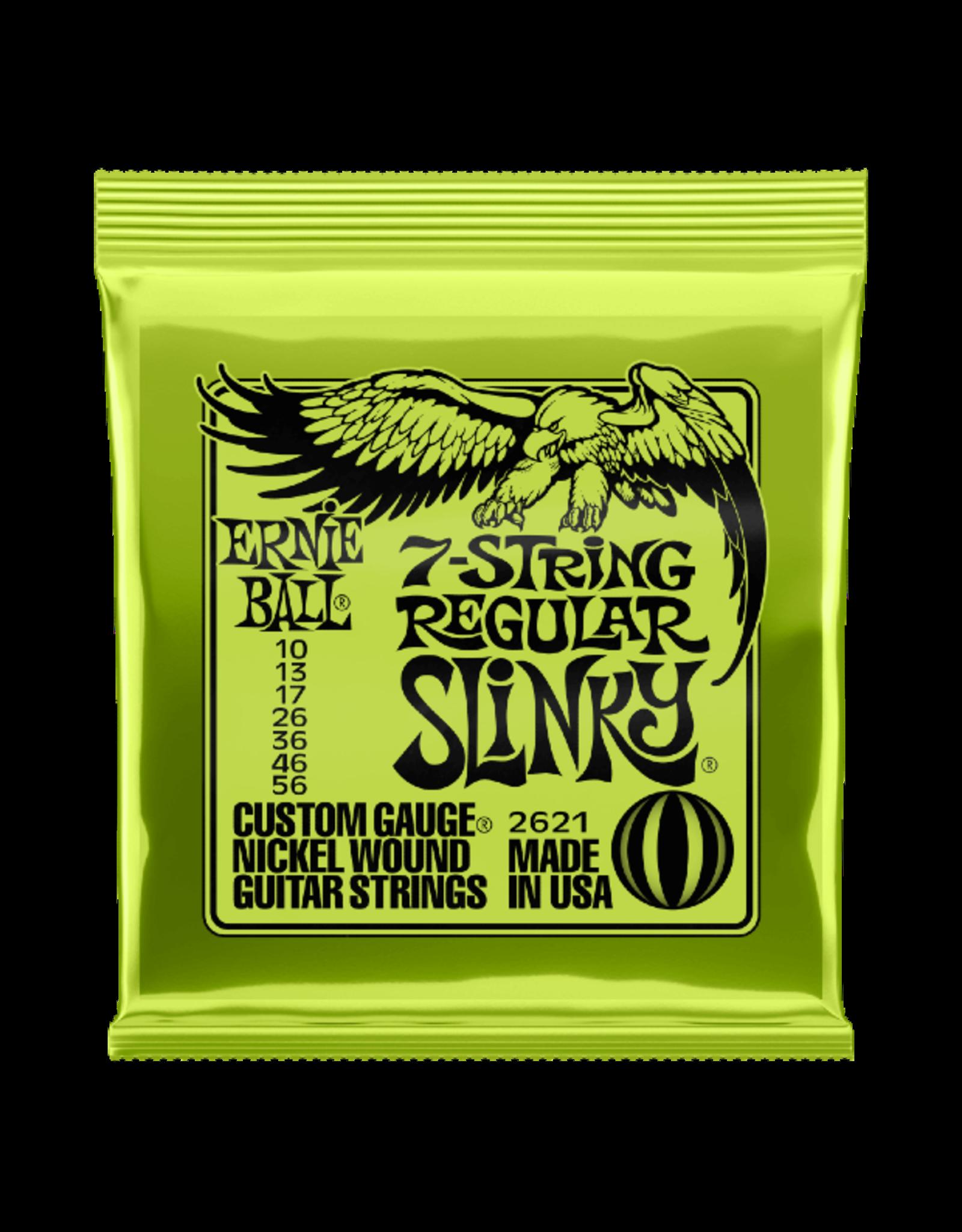 Ernie Ball Ernie Ball Regular Slinky 7-String Nickel Wound  10-56 Gauge