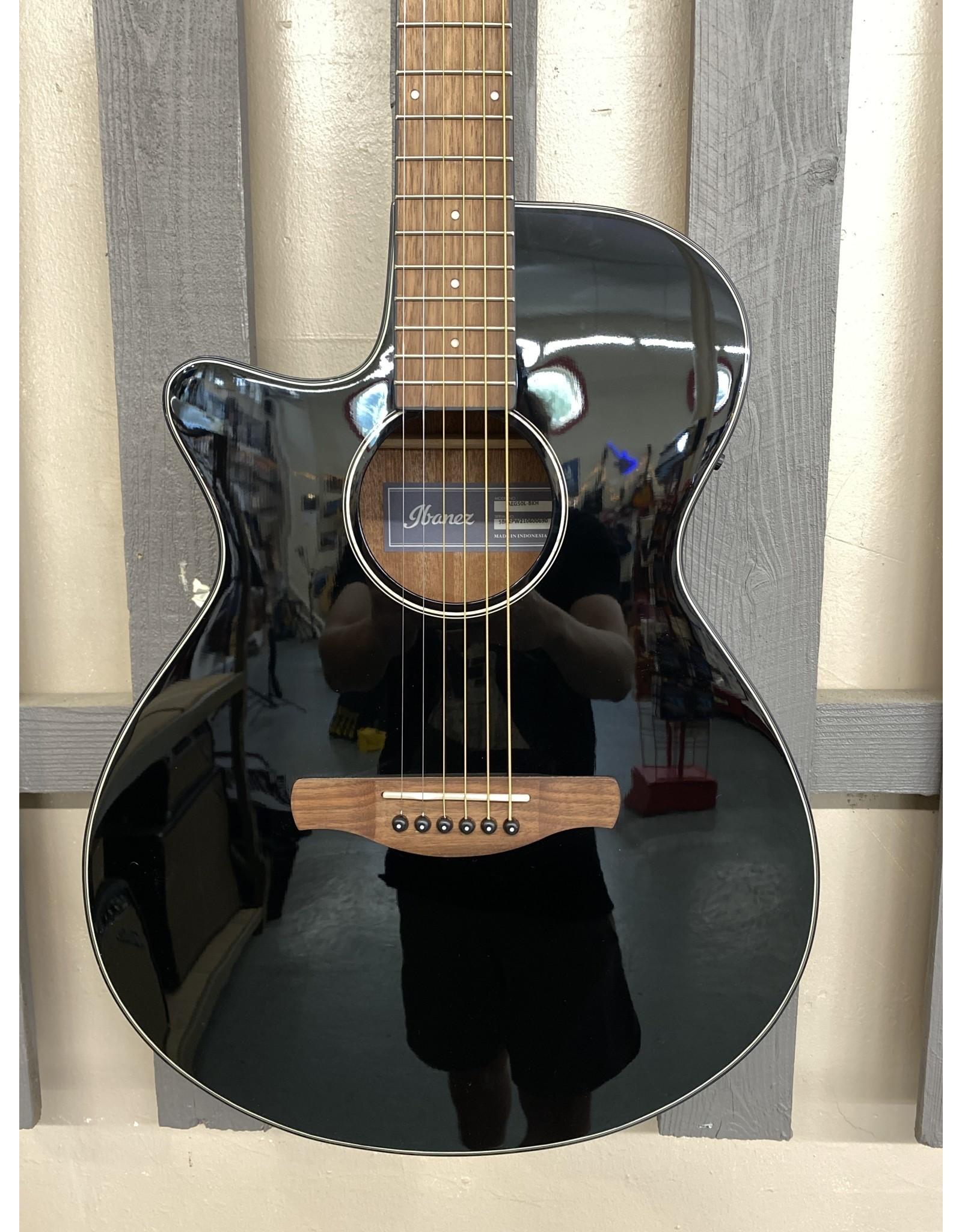 Ibanez Ibanez AEG50L Black High Gloss Acoustic Guitar
