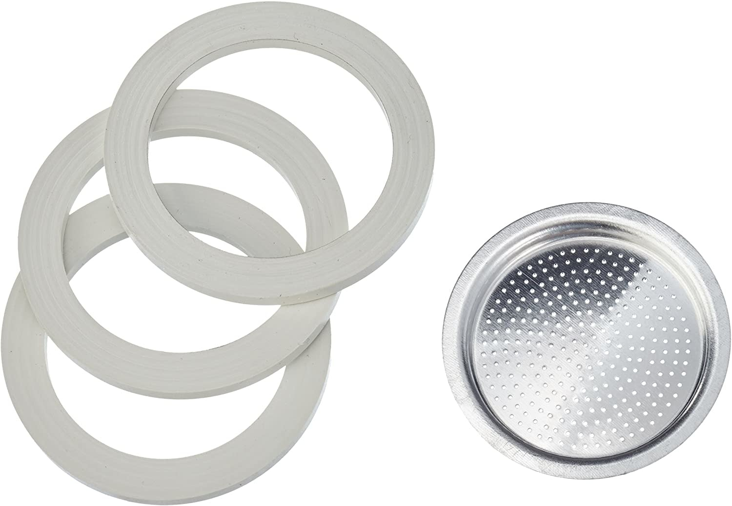 Bialetti Bialetti 3 Gasket + 1 Filter for 6 Cups
