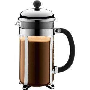 Bodum Coffee Maker French Press Chambord 8cup 34oz Glass Shiny Tall