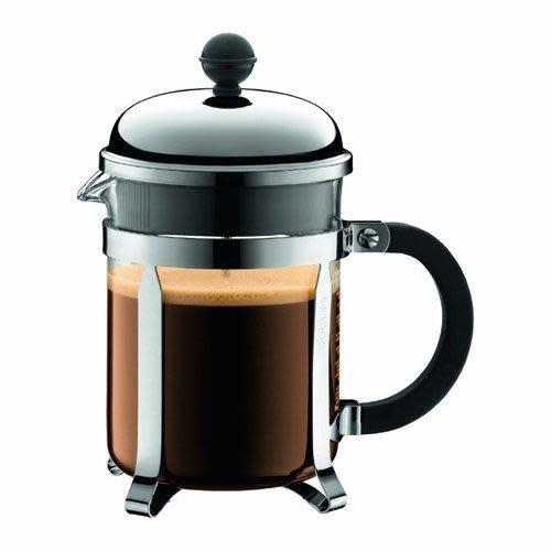 Bodum Coffee Maker French Press Chambord 4cup 17oz Glass Short