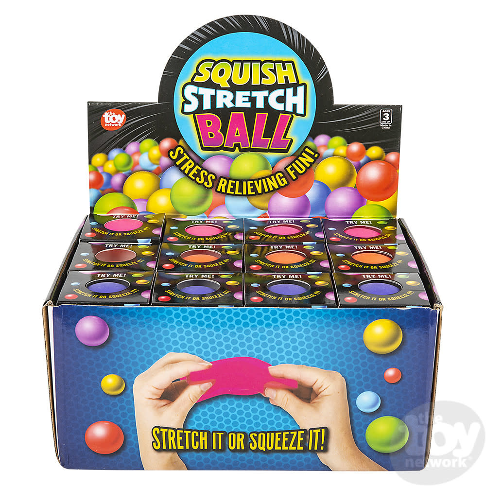Toy Network Squish Stretch Gummi Ball Assorted Colors 2.5in