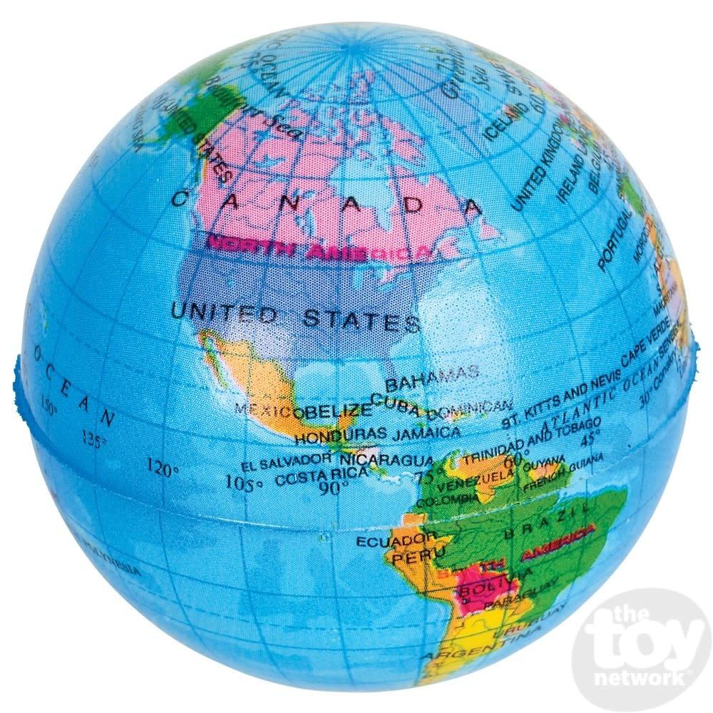 "Toy Network Globe Stress Ball 3"""