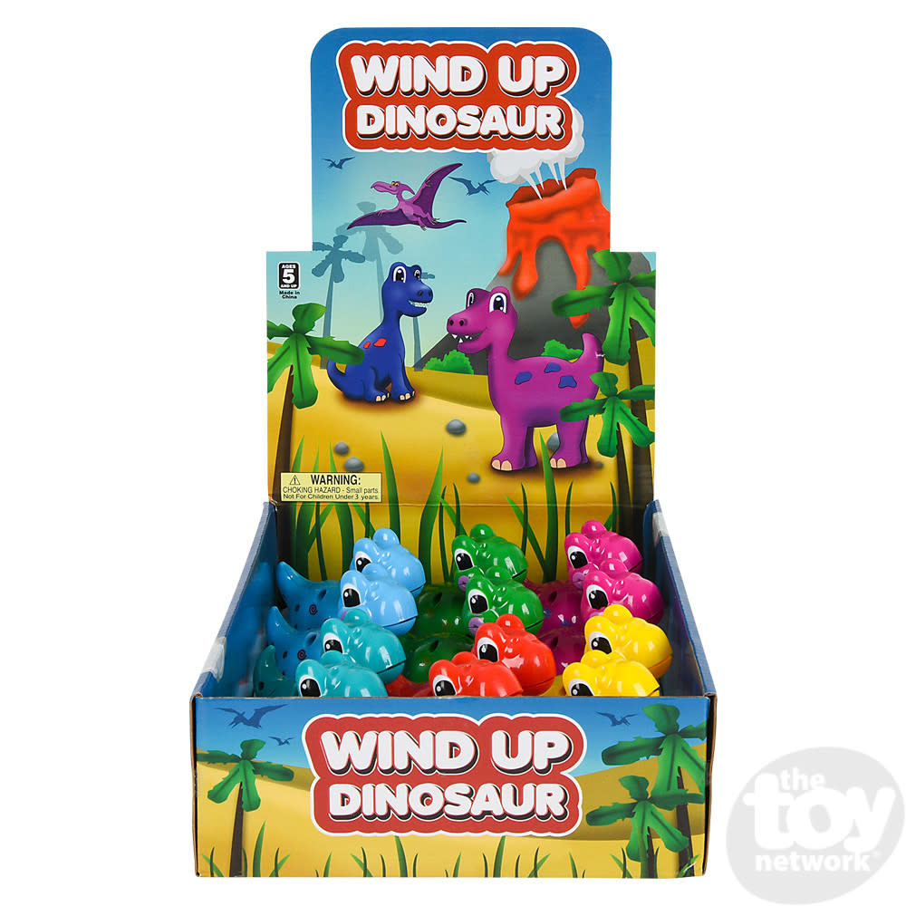 Toy Network Wind Up Dinosaur on Wheels 3.25in