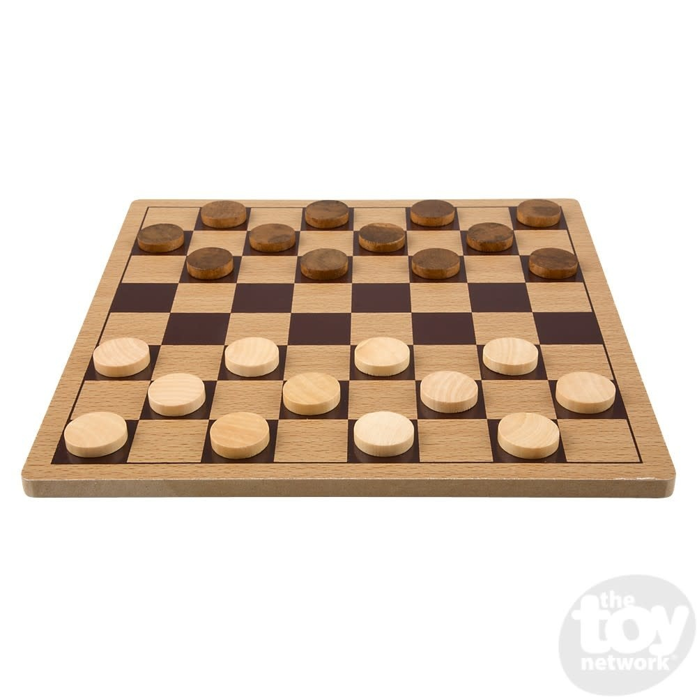 """Toy Network Checkers Wooden 10"""" Board"""