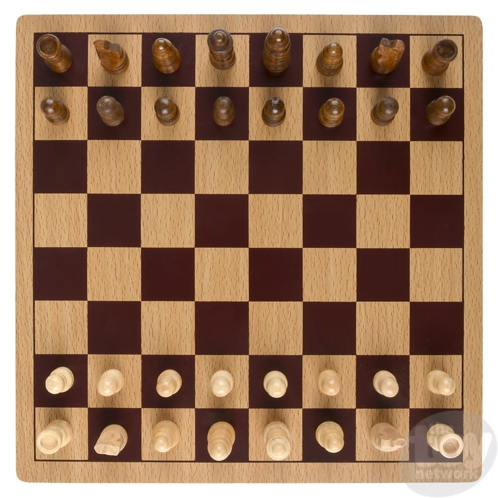 """Toy Network Chess Wooden 10"""" Board"""
