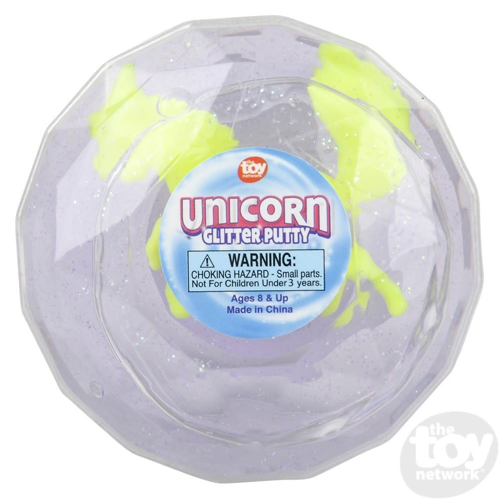 Toy Network Putty Glitter Unicorn 2.25in High