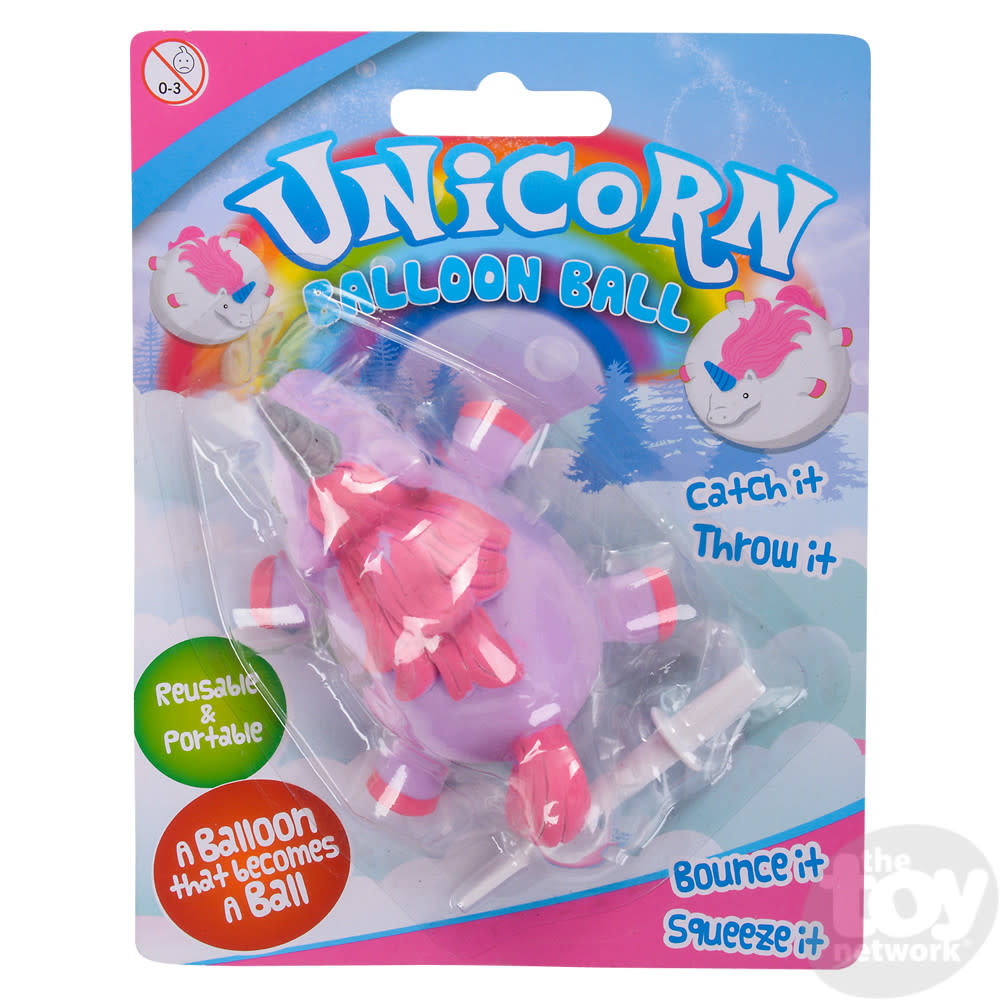 Toy Network Unicorn Balloon Ball 4in Assorted Colors Available