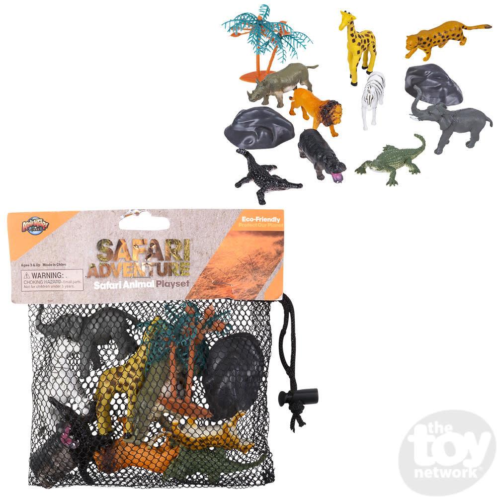 Toy Network Play Set Safari with Mesh Bag 12pc