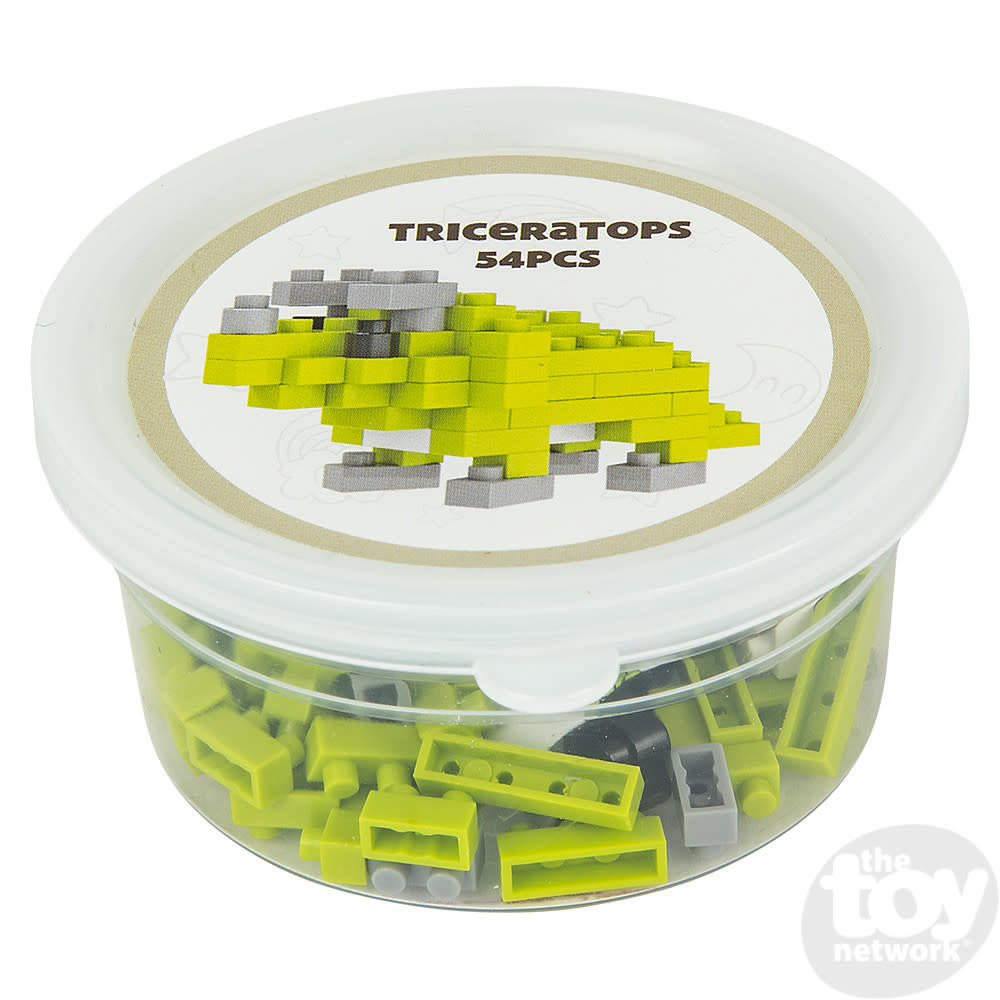 Toy Network Building Kit Dino Mini Blocks - Triceratops