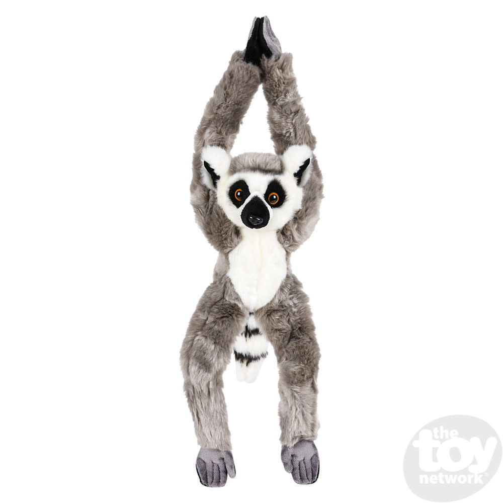 """Toy Network Heirloom Lemur Ring Tailed Butter Soft Hanging Stuffed Animal 18"""""""